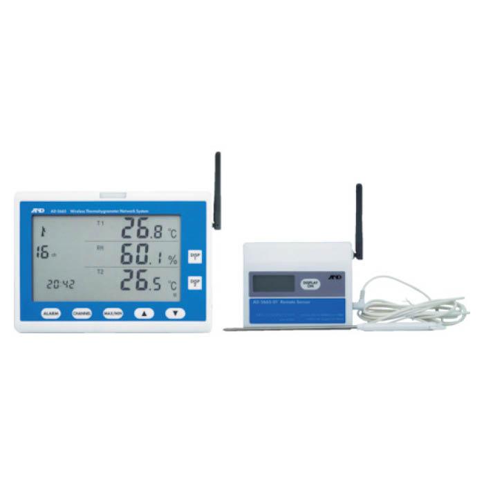 (T)A&D ワイヤレス温湿度計 AD5665SET