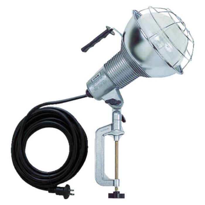 (T)ハタヤ 防雨型水銀作業灯 バラストレス水銀ランプ500W 100V5m バイス付