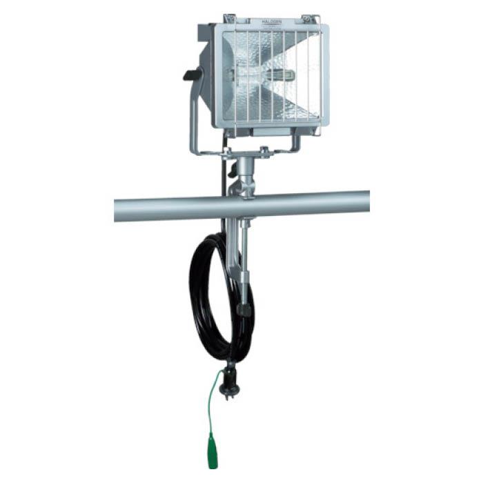 (T)ハタヤ 防雨型ハロゲンライト 500W 100V接地付電線5m バイス付