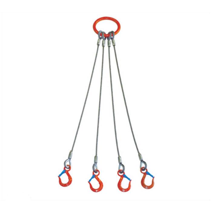 大洋 4本吊 ワイヤスリング 1.6t用×2m