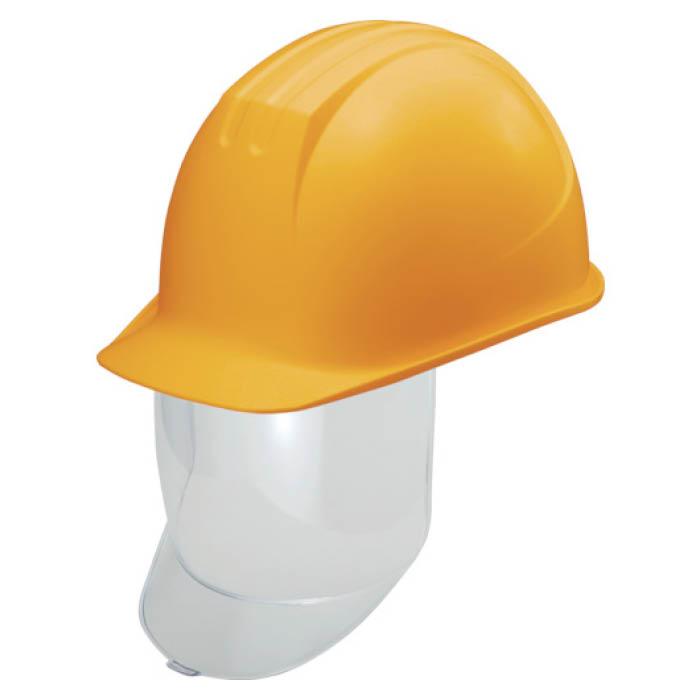(T)タニザワ 大型シールド面付ヘルメット 溝付 イエロー