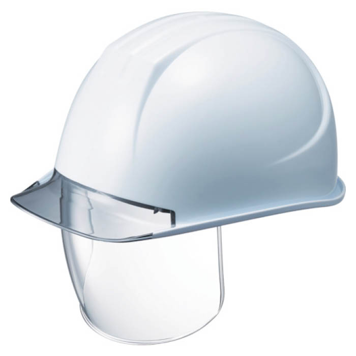 (T)タニザワ 特大型ヘルメット シールド面付 溝付 透明ひさし付