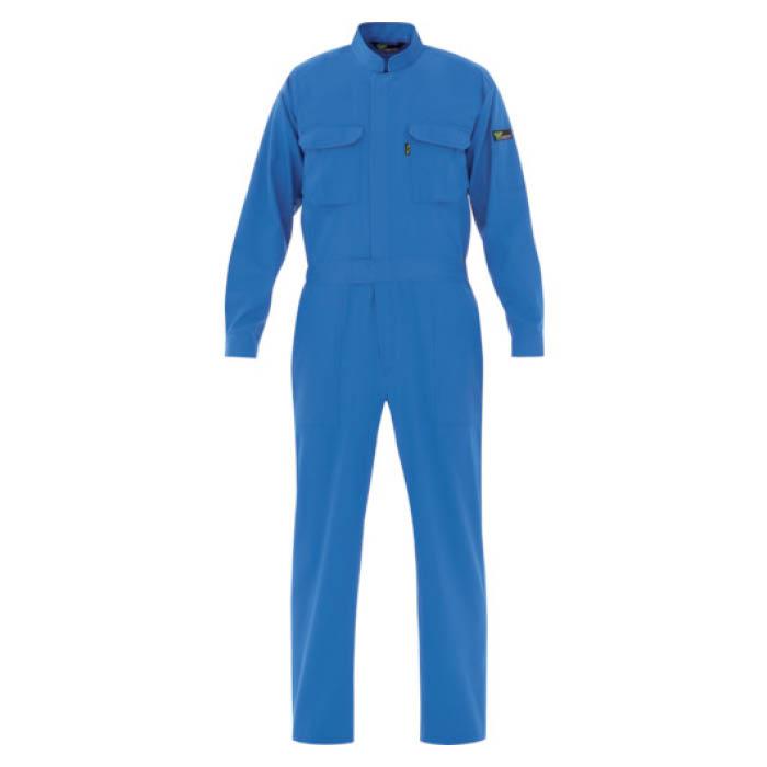 (T)ミドリ安全 ベルデクセル T/C帯電防止ツナギ服 ブルー LL