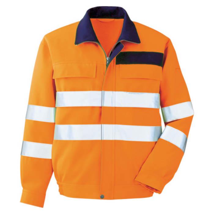 (T)ミドリ安全 高視認 ブルゾン オレンジ S