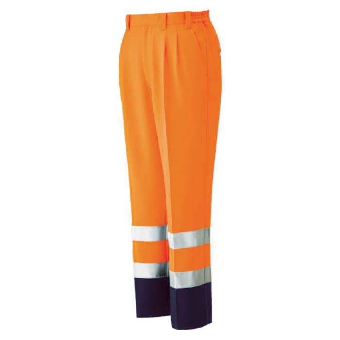 (T)ミドリ安全 高視認 イージーフレックスパンツ オレンジ S