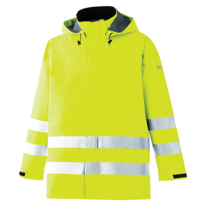 (T)ミドリ安全 雨衣 レインベルデN 高視認仕様 上衣 蛍光イエロー S