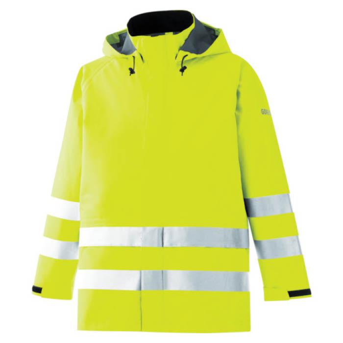 (T)ミドリ安全 雨衣 レインベルデN 高視認仕様 上衣 蛍光イエロー L