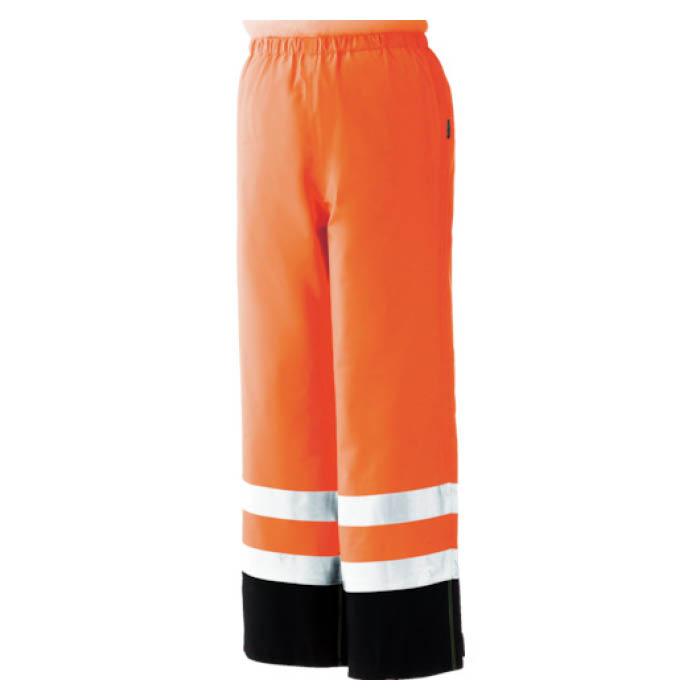 (T)ミドリ安全 雨衣 レインベルデN 高視認仕様 下衣 蛍光オレンジ 3L