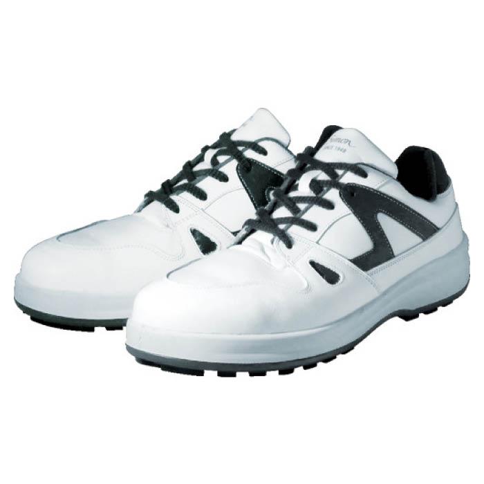 (T)シモン 安全靴 短靴 8611白/ブルー 25.0cm