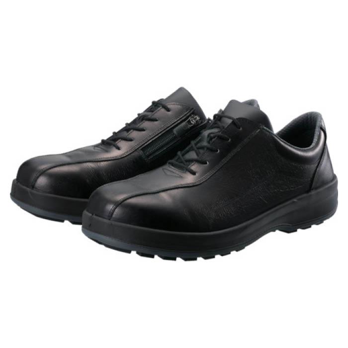 (T)シモン 耐滑・軽量3層底安全短靴8512黒C付 25.5cm