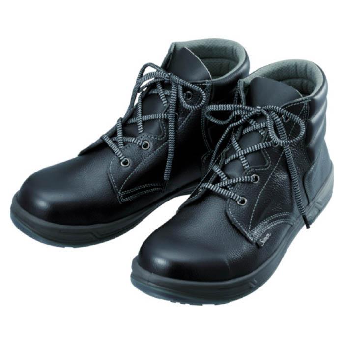 (T)シモン 安全靴 編上靴 SS22黒 24.5cm