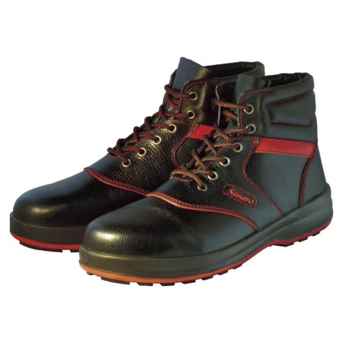 (T)シモン 安全靴 編上靴 SL22-R黒/赤 26.5cm