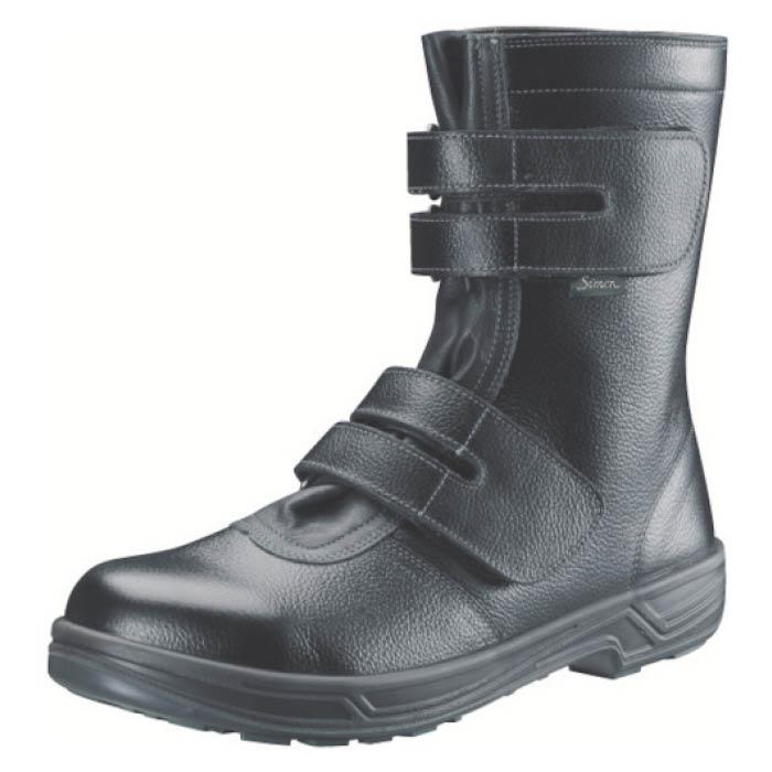 (T)シモン 安全靴 長編上靴マジック式 SS38黒 25.0cm
