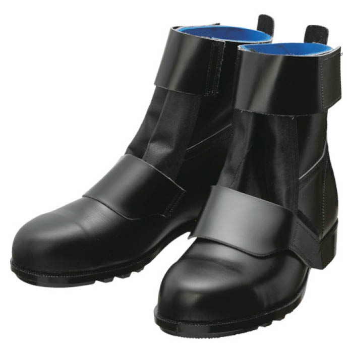 (T)シモン マジック安全編上靴黒・牛革5