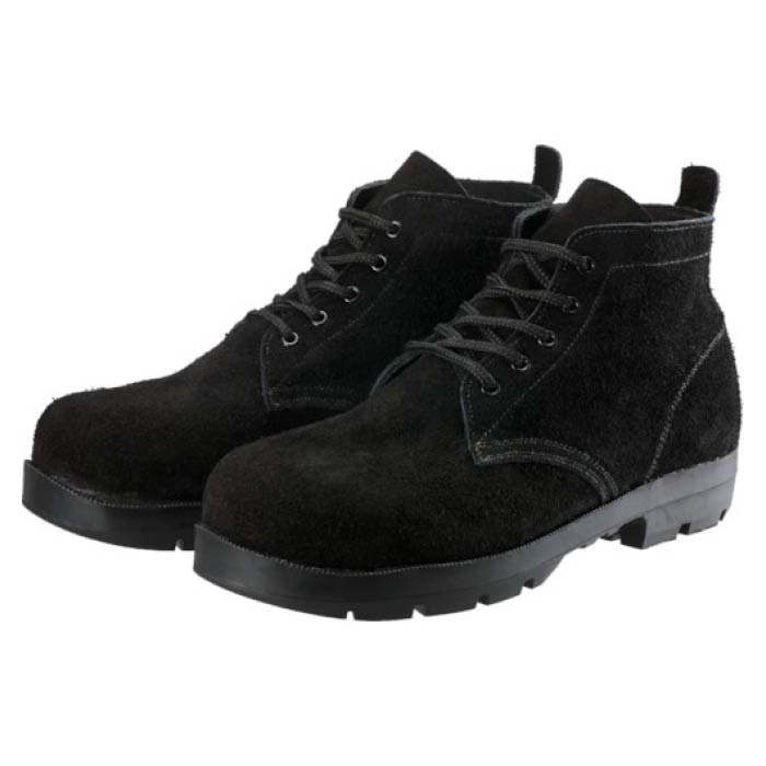 (T)シモン 耐熱安全編上靴HI22黒床耐熱 25.0cm