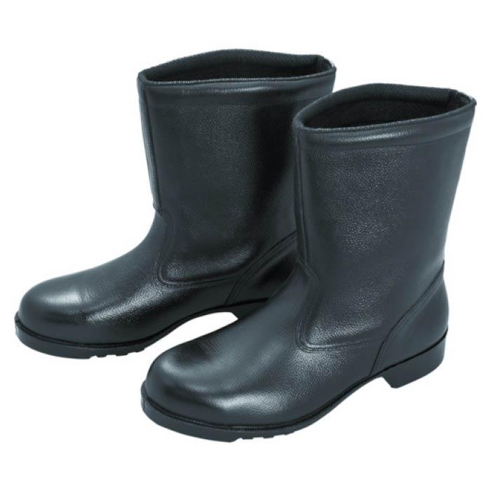 (T)ミドリ安全 ゴム底安全靴 半長靴 V2400N 24.0CM
