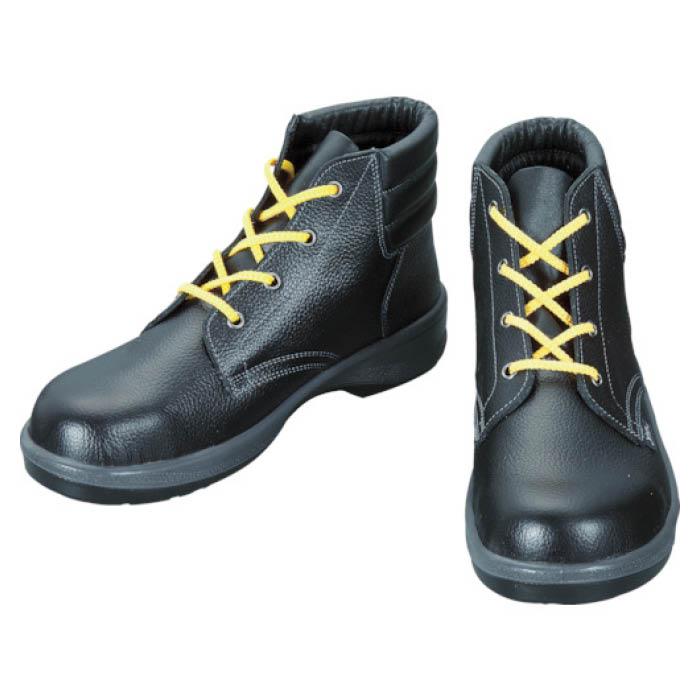 (T)シモン 静電安全靴 編上靴 7522黒静電靴 23.5cm