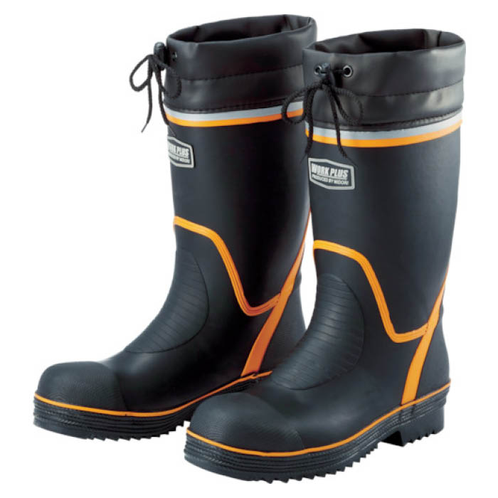 (T)ミドリ安全 踏抜き防止板・ワイド樹脂先芯入り長靴 766NP-4 24.5CM