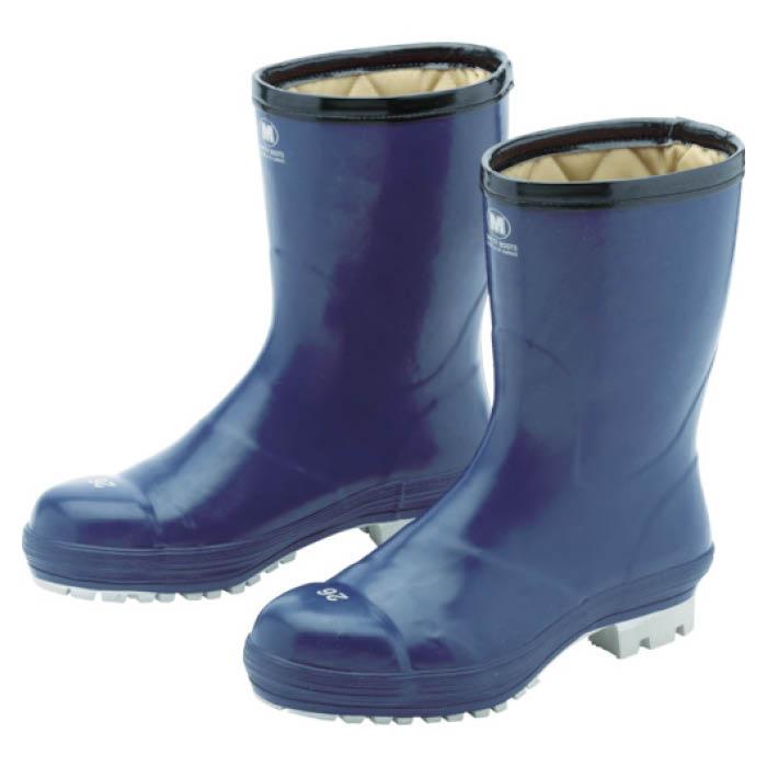 (T)ミドリ安全 氷上で滑りにくい防寒安全長靴 FBH01 ネイビー 24.0cm