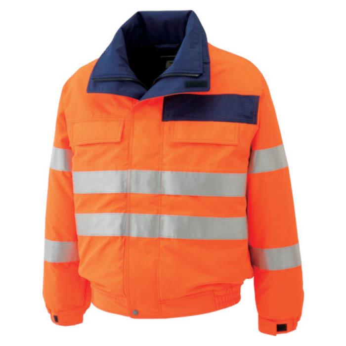(T)ミドリ安全 高視認性 防水帯電防止防寒ブルゾン オレンジ 3L
