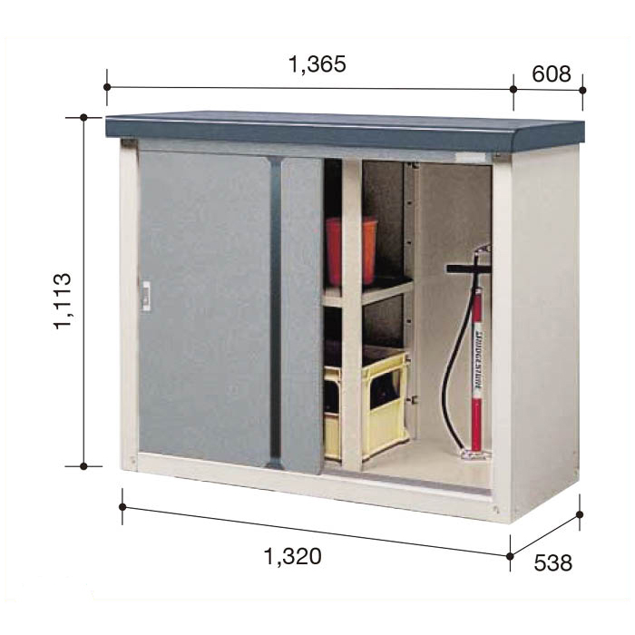ビニトップ収納庫VL-1305T【Cパック】間口1365mm●ナフコオリジナルで高品質&低価格な収納庫
