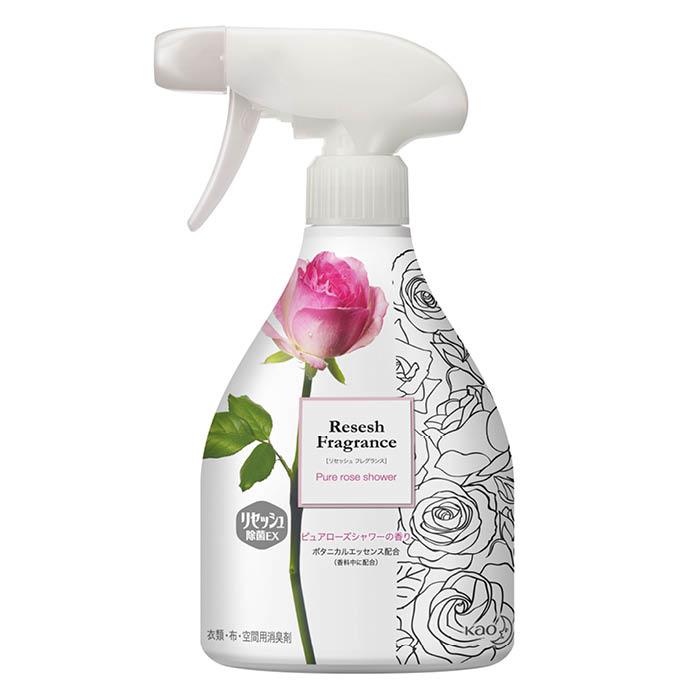 お部屋の布製品 空間にボタニカル香りシャワー 人気上昇中 花王 リセッシュ除菌EX ローズ 本体370ML フレグランス 品質保証
