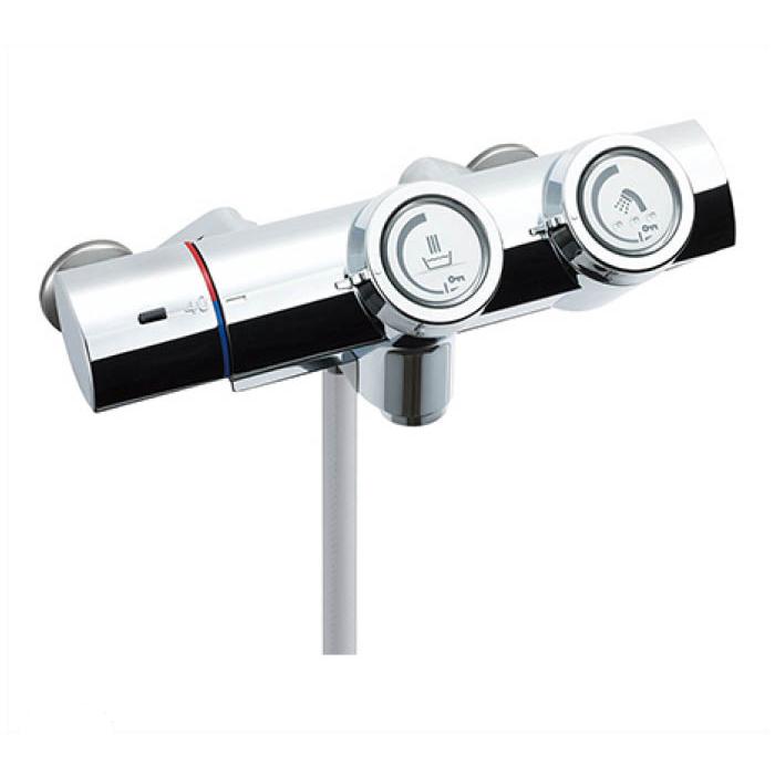 LIXIL INAX 洗い場専用プッシュ式サーモスタット付シャワーバス水栓 RBF815