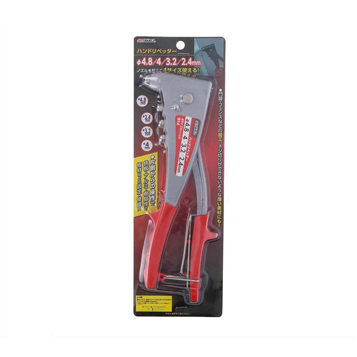 鉄板 アルミ 樹脂製の板材などの固定 祝開店大放出セール開催中 修理に TAKAGI 4 3.2 Φ4.8 2.4mm 休日 ハンドリベッター