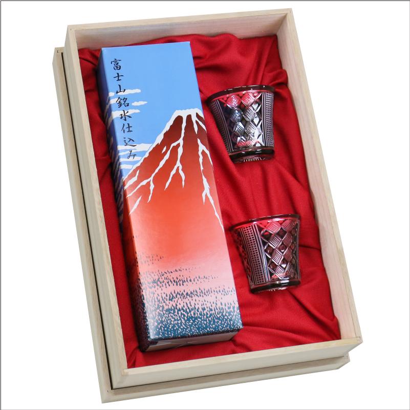 日本酒 グラス ≪特別純米酒 富士山720ml 切子 グラスペアセット ≫ ペア ギフト 名入れ プレゼント 夫婦 父の日 【翌々営業日出荷】 母の日