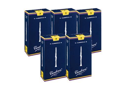 通信販売 まとめ買い バンドレン Traditional5箱セット B♭クラリネットリード 一部予約