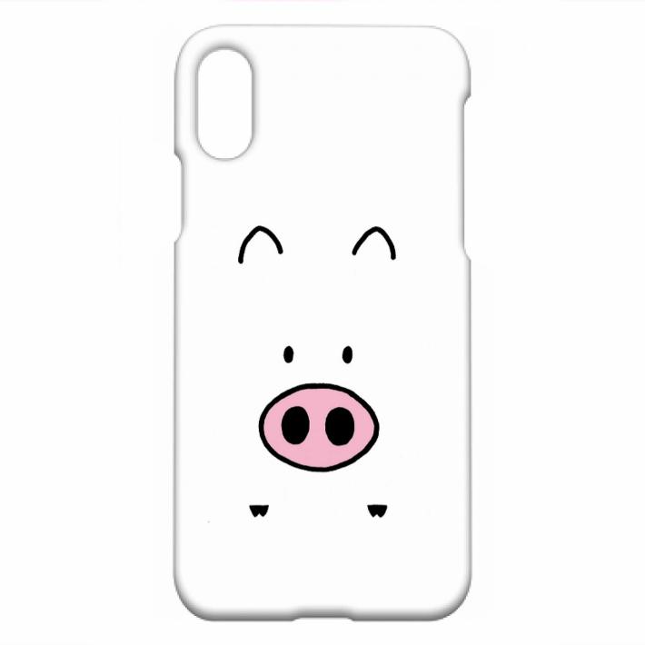 ぶひキャラを末永く可愛がってあげてください#9825; 送料無料 iPhoneXS X ぶひ ブランド品 ハードカバーケース オリジナルキャラクター マット 大規模セール