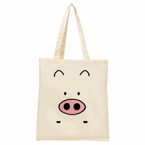 並行輸入品 新作からSALEアイテム等お得な商品 満載 絵本ぶひシリーズがバッグとなって登場 送料無料 絵本ぶひオリジナルキャラクター コットンバッグ
