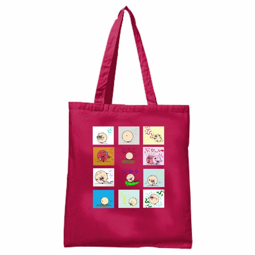絵本ぶひシリーズがバッグとなって登場 新色追加 送料無料 絵本ぶひオリジナルキャラクター コットンバッグ 高品質