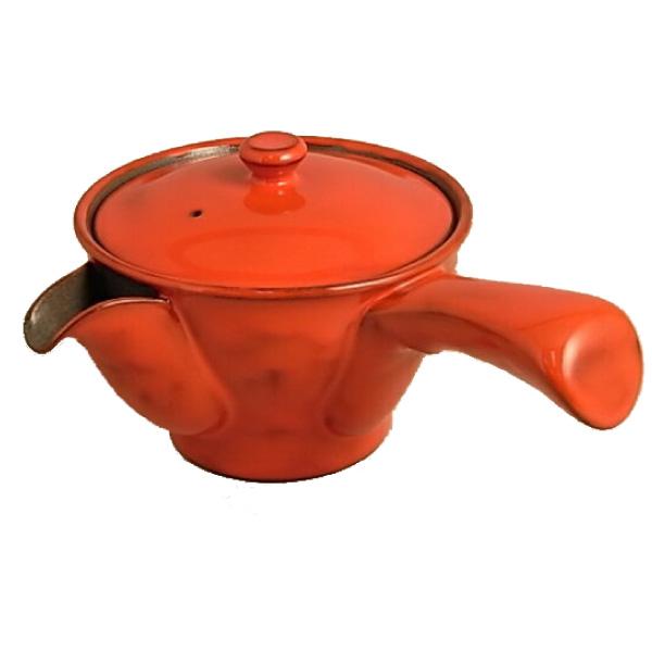 陽炎G急須 (小)280cc 有田焼 おしゃれなデザインの伊万里陶芸の有田焼急須です。底まで届く特製かご網茶こし付き。