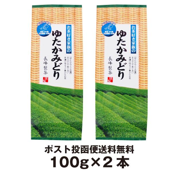 コク豊かで香り豊か エピガロカテキンが豊富な高機能品種茶として注目されています 2021年度産 お茶好き家族の ゆたかみどり 鹿児島茶 エピガロカテキン ☆最安値に挑戦 定番スタイル 緑茶 100g×2本 ポスト投函便送料無料