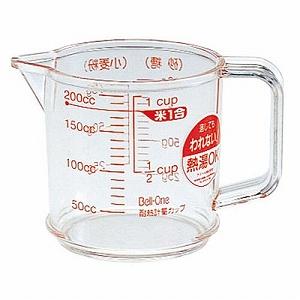 使いやすいシンプルな計量カップです 定形外送料無料 日本製 アスベル Bell-One 値下げ 200ml 耐熱計量カップ 100g ベルワン 訳あり