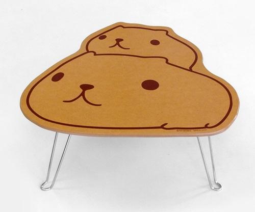 海外限定 かわいい折りたたみミニテーブル 日本製 K Bダイカットミニテーブル カピバラさんと仔カピ テーブル 激安挑戦中 木製 カピバラさん
