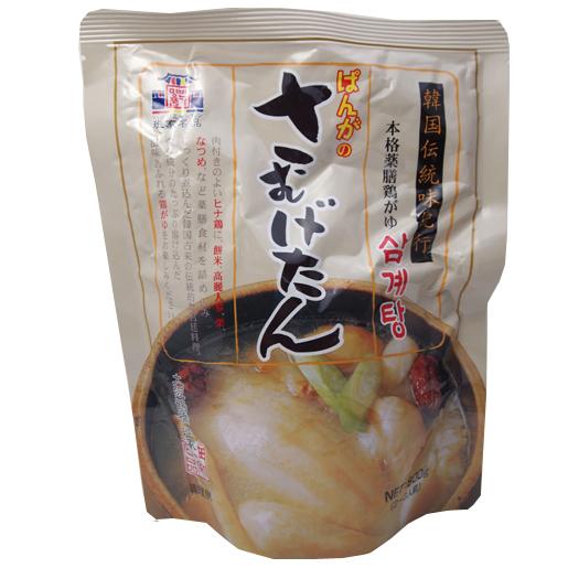 栄養成分のたっぷり溶け込んだ韓国古来の伝統的な宮廷料理、参鶏湯(サムゲタン)です。滋味あふれる鶏がゆをお楽しみください。 徳山物産 ぱんがの本格薬膳鶏がゆ 800g 1袋 ★宮廷料理 参鶏湯 鶏粥 サムゲタン さむげたん サンゲタン さんげたん 伝統料理 韓国 レトルト 簡単 温めるだけ 餅米 もち米 高麗人参 栗 ナツメ ショウガ《常温便・冷蔵便で配送可/冷凍便は配送不可》