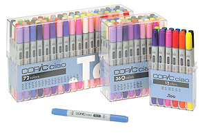 Coping too COPIC Chao 72 color set (to /COPIC ciao / marker and color pen / manga / cartoon / color / illustrations / mail order / postage included)