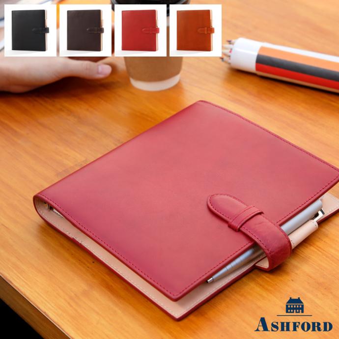 ASHFORD/アシュフォード システム手帳 キュリオ HB×WA5 15mm ベルトタイプ No.6128 ブラック ( 黒 ) / ブラウン ( 茶色 ) / レッド ( 赤 ) / オレンジ ( 橙 )