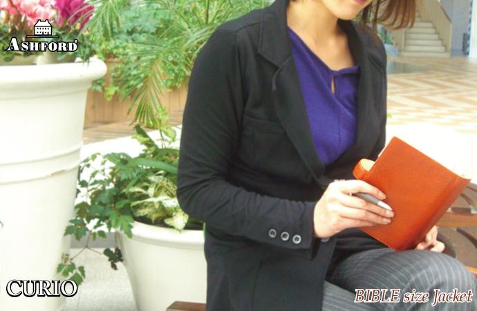 ASHFORD 革製 バイブルサイズ システム手帳  Curio 19mmリング (アシュフォード/キュリオ)