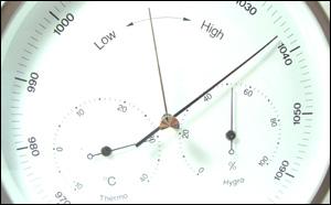 BARIGO ラウンド型 温湿気圧計 【直径160mm】(バリゴ)
