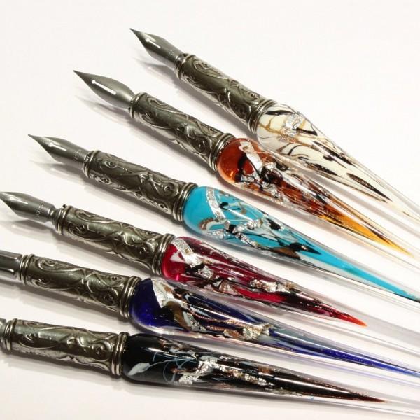 Boltoretti Bortolnitti Venetian glass Venetian muranogaraspen axis giftset No20 (boltretsch / Venice / Italy / pen axis / crafts / galas pen)