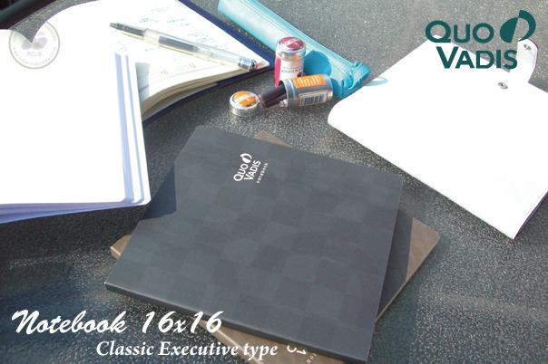 【送料お得なネコポス対象】 QUOVADIS ノートブック 16×16cm クラシック エグゼクティブタイプ(クオバディス)