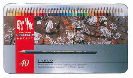 CARAND'ACHE 油性 色鉛筆 パブロ 40色セット:ナガサワ文具センター