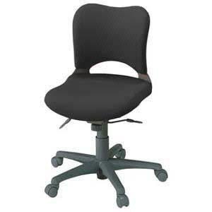 プラス オフィスチェア オーバル ローバック 肘なし 本体色:ミディアムグレー KC-Z16SEL (PLUS OVAL CHAIR/オフィスチェアー/パソコンチェア/デスクチェア)