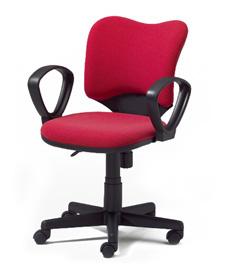 プラス オフィスチェア プロップ ループ固定肘付 本体ブラック スタンダード脚 KB-A93SEL-N (PLUS PROP CHAIR/オフィスチェアー/パソコンチェア/デスクチェア)