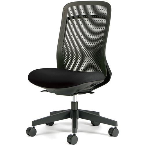 プラス 事務イス Try KC-TR61SEL BK (事務椅子/オフィスチェア/ワークチェア)