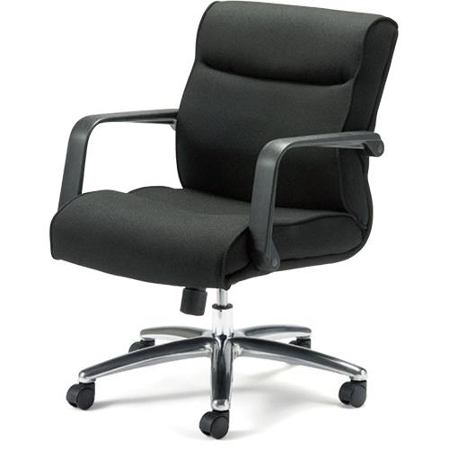 プラス 役員イス KB-MA072SL BK ミドルバック 引き出しのみ (事務椅子/オフィスチェア/ワークチェア/マネージャーチェア)