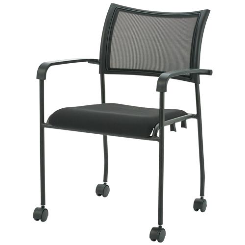 スーパーセール期間限定 ジョインテックス 会議イスGKM-A50ブラック 肘付キャスタ付 (会議室椅子/ミーティングチェア), シュラメック正規取扱店 BB COSME a572d6ec